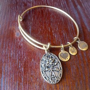 ❤ Alex and ani gold tone friend bracelet